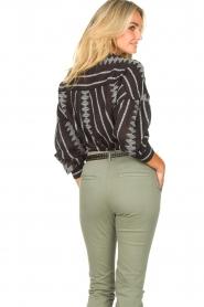 Aaiko |  Cotton blouse with aztec print Gilaine | black  | Picture 8