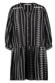 Aaiko |  Cotton dress with aztec print Gylian | black  | Picture 1
