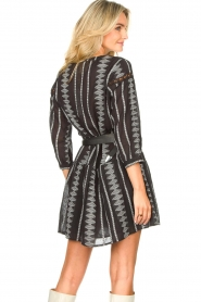 Aaiko |  Cotton dress with aztec print Gylian | black  | Picture 7
