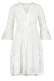 Aaiko |  Cotton embroidery dress Kampur | white  | Picture 1