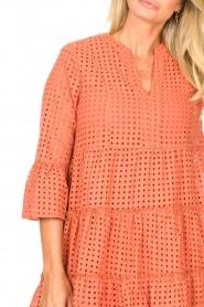 Aaiko |  Cotton embroidery dress Kampur | orange  | Picture 7