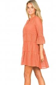 Aaiko |  Cotton embroidery dress Kampur | orange  | Picture 5