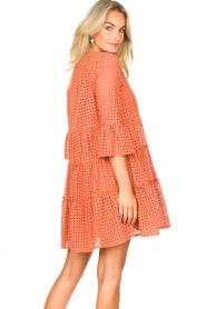 Aaiko |  Cotton embroidery dress Kampur | orange  | Picture 6