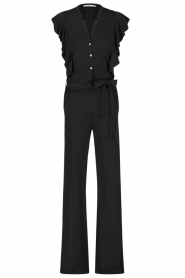 Aaiko |  Jumpsuit with ruffles Mailina | black  | Picture 1