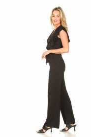 Aaiko |  Jumpsuit with ruffles Mailina | black  | Picture 4