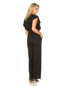 Aaiko |  Jumpsuit with ruffles Mailina | black  | Picture 5