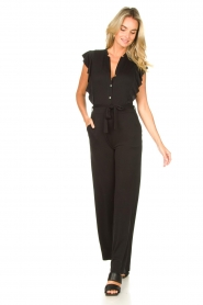 Aaiko |  Jumpsuit with ruffles Mailina | black  | Picture 3