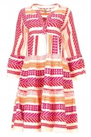 Devotion | Katoenen midi-jurk met print Ella | roze  | Afbeelding 1