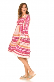 Devotion | Katoenen midi-jurk met print Ella | roze  | Afbeelding 3