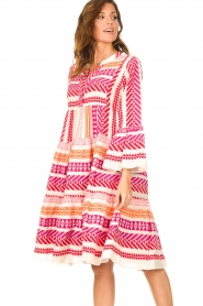 Devotion | Katoenen midi-jurk met print Ella | roze  | Afbeelding 5