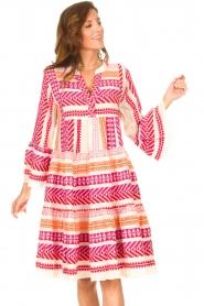 Devotion | Katoenen midi-jurk met print Ella | roze  | Afbeelding 4