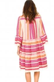Devotion | Katoenen midi-jurk met print Ella | roze  | Afbeelding 7