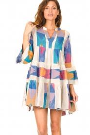 Devotion    Cotton print dress Ella   natural/lilac    Picture 2
