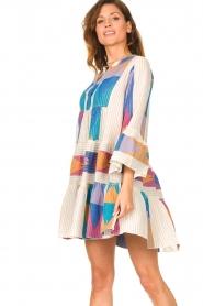 Devotion    Cotton print dress Ella   natural/lilac    Picture 4