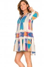 Devotion    Cotton print dress Ella   natural/lilac    Picture 5