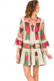 Devotion |  Cotton print dress Ella | natural/red  | Picture 5