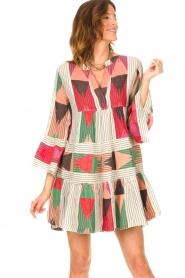 Devotion |  Cotton print dress Ella | natural/red  | Picture 7
