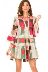 Devotion |  Cotton print dress Ella | natural/red  | Picture 2