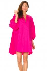 Devotion |  Popeline dress Maro | pink  | Picture 4
