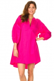 Devotion |  Popeline dress Maro | pink  | Picture 2