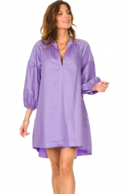 Devotion |  Popeline dress Maro | lilac  | Picture 4