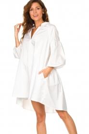 Devotion | Popeline jurk Maro | wit  | Afbeelding 2