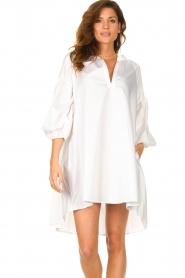 Devotion | Popeline jurk Maro | wit  | Afbeelding 4
