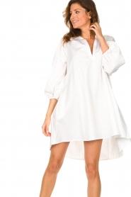 Devotion | Popeline jurk Maro | wit  | Afbeelding 5