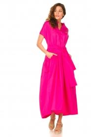 Devotion |  Cotton maxi dress Chara | fuchsia  | Picture 4