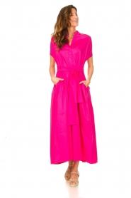 Devotion |  Cotton maxi dress Chara | fuchsia  | Picture 3