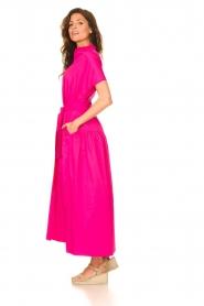 Devotion |  Cotton maxi dress Chara | fuchsia  | Picture 6