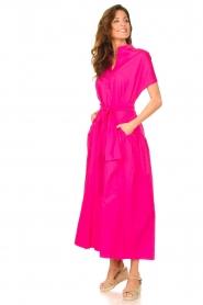 Devotion |  Cotton maxi dress Chara | fuchsia  | Picture 5