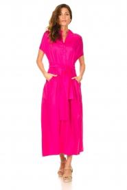 Devotion |  Cotton maxi dress Chara | fuchsia  | Picture 2