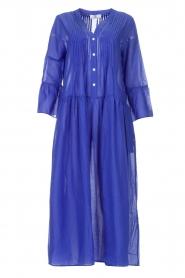 Devotion |  Cotton maxi dress Bella | blue  | Picture 1