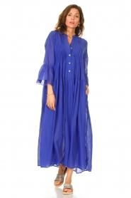 Devotion |  Cotton maxi dress Bella | blue  | Picture 2
