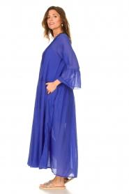 Devotion |  Cotton maxi dress Bella | blue  | Picture 5