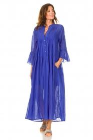 Devotion |  Cotton maxi dress Bella | blue  | Picture 3