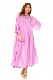 Devotion |  Cotton maxi dress Bella | lilac  | Picture 3
