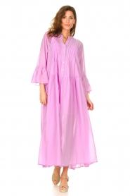 Devotion |  Cotton maxi dress Bella | lilac  | Picture 2