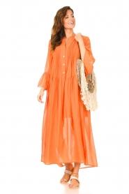 Devotion |  Cotton maxi dress Bella | orange  | Picture 3