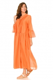 Devotion |  Cotton maxi dress Bella | orange  | Picture 5