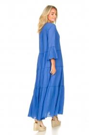 Devotion |  Cotton maxi dress Roos | blue  | Picture 5