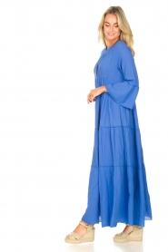 Devotion |  Cotton maxi dress Roos | blue  | Picture 4