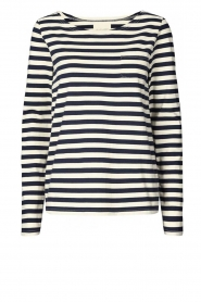 Lolly's Laundry |  Striped top Vala | blue & white  | Picture 1