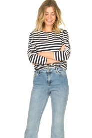 Lolly's Laundry |  Striped top Vala | blue & white  | Picture 4