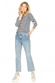 Lolly's Laundry |  Striped top Vala | blue & white  | Picture 3