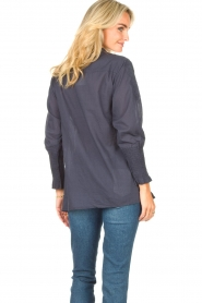 Lolly's Laundry |  Blouse with embroided details | blue  | Picture 6
