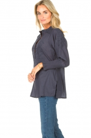 Lolly's Laundry |  Blouse with embroided details | blue  | Picture 5