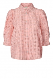 Lolly's Laundry |  Checkered blouse Bono | pink  | Picture 1