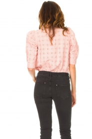 Lolly's Laundry |  Checkered blouse Bono | pink  | Picture 7